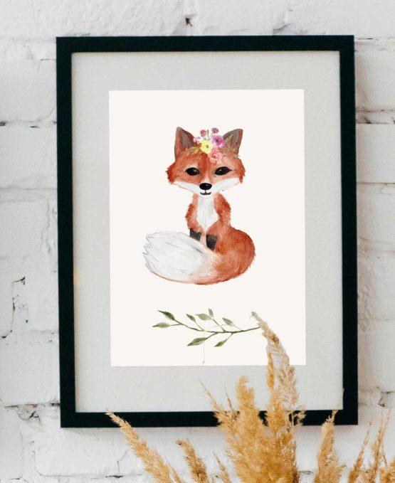 Fuchs Aquarell