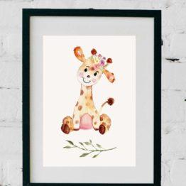 Aquarell Giraffe