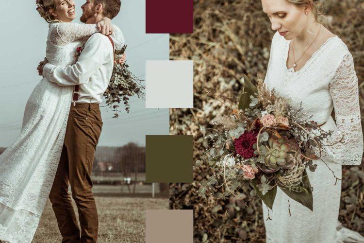 Boho Hochzeit Farbschema