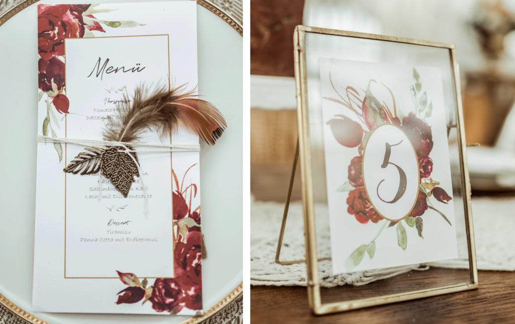 Papeterie Boho Hochzeitsdeko