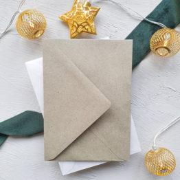 Umschlag-Kraftpapier-Gruen